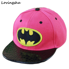 Batman Design Fashion Boy Baseball Caps For 3-8 Years Old Children Snapback Caps High Qaulity Adjustable Cap For Girl CC020