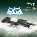 Free Shipping GPS Version Waterproof IP 67 DMR Walkie Talkie MD 390 with 2200Mah Battery Headset