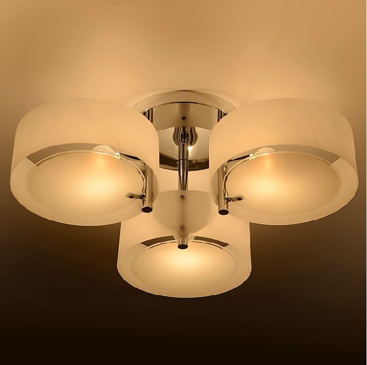 Alibaba Modern Ceiling Lights : Special discount chrome finish white color modern ceiling