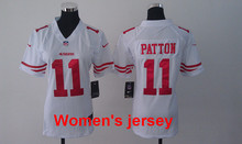 A+++ Women ladies all stitched San Francisco 49ers Joe Montana 42 Ronnie Lott 80 Jerry Rice 82 Torrey Smith 81 Anquan Boldin(China (Mainland))