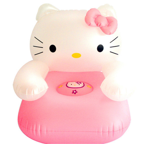 cute children PVC inflatable hello kitty chair sofas, baby used furniture stool, gift for Children kids, KT swimming pool seat(China (Mainland))