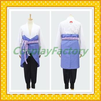 Free Shipping Custom Made Naruto Shippuuden Sasuke Uchiha Party Fancy Costume Clothing