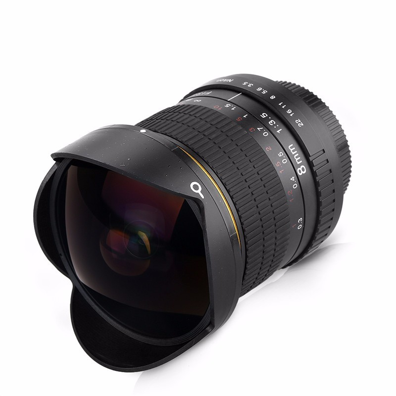 8mm F/3.5 Ultra Wide Angle Fisheye Lens for APS-C/ Full Frame Canon EOS 1200D 760D 750D 700D 70D 60D 7D 6D 5D2 5D3 DSLR Camera