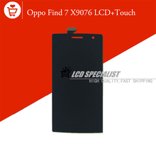 """Black New 5"""" Inch For OPPO Find 7 7a X9007 X9077 LCD Display+Touch Screen Digitizer Glass Sensor Full Assembly Replacement"""