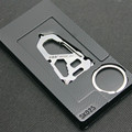 2 pcs Multifunction full metal keychain opener Carabiner Cap Lifter Hex Driver EDC tools