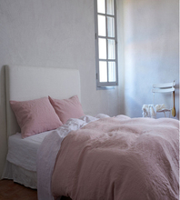 4pcs 100% Washed Pink French Bed linen Bedding sets Duvet Cover Set Bed Sheets Frabic Linen Pillowcase Shams Queen King Size