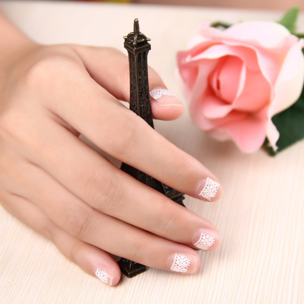 Fashion New 30pcs 3D Lace Design Nail Art Stickers Flower Manicure Nail Decals Tips Beauty Tools