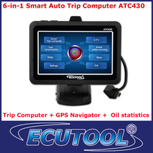 6-In-1 Car Auto Smart Trip Computer ATC430 OBDii OBD 2 with GPS Navigation Oil statistics Clear DTC TPMS Optional free shipping(China (Mainland))