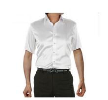 2016 new brand summer style High quality silk short Sleeve men dress Shirts casual Men Shirt camisa masculina camisas hombre(China (Mainland))