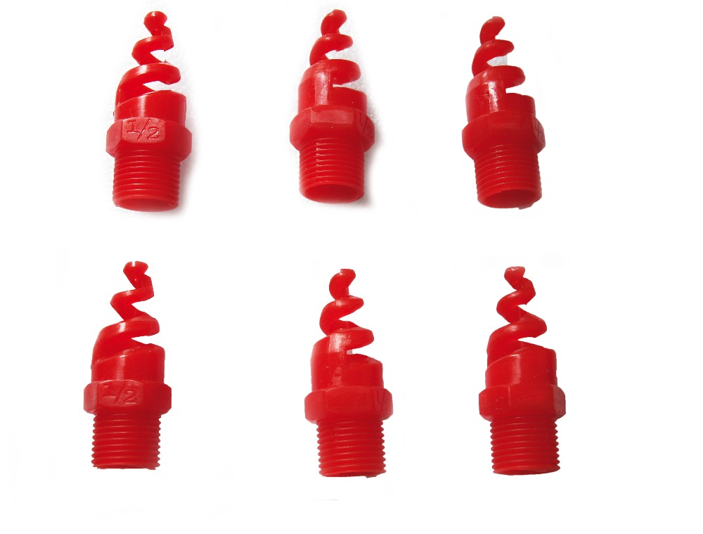 "5 pcs 1/2"" Thread Spiral Cone plastic misting system mist nozzle fogging Nozzle Industrial Spray Dust Remover(China (Mainland))"