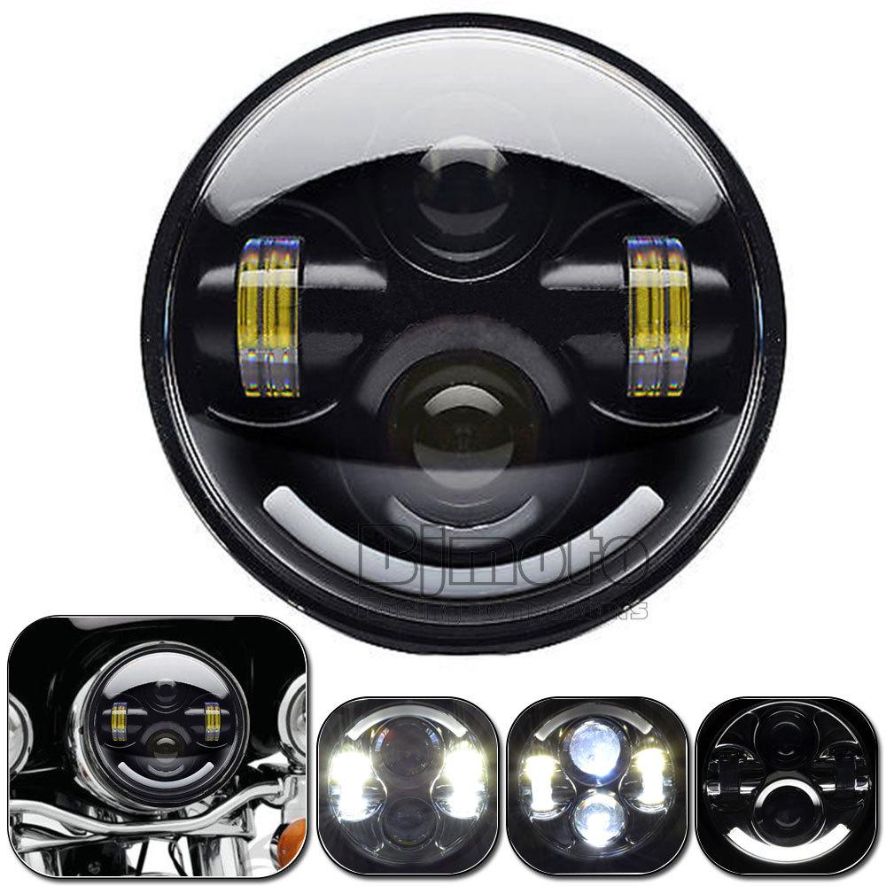 motorcycle headlight cree led headlights fit h4. Black Bedroom Furniture Sets. Home Design Ideas