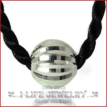 Fashion Jewelry 925 Silver Guy Korean Evil Transit Beads Handmade Rope Knitting Designer Jewelry Pendants Necklaces