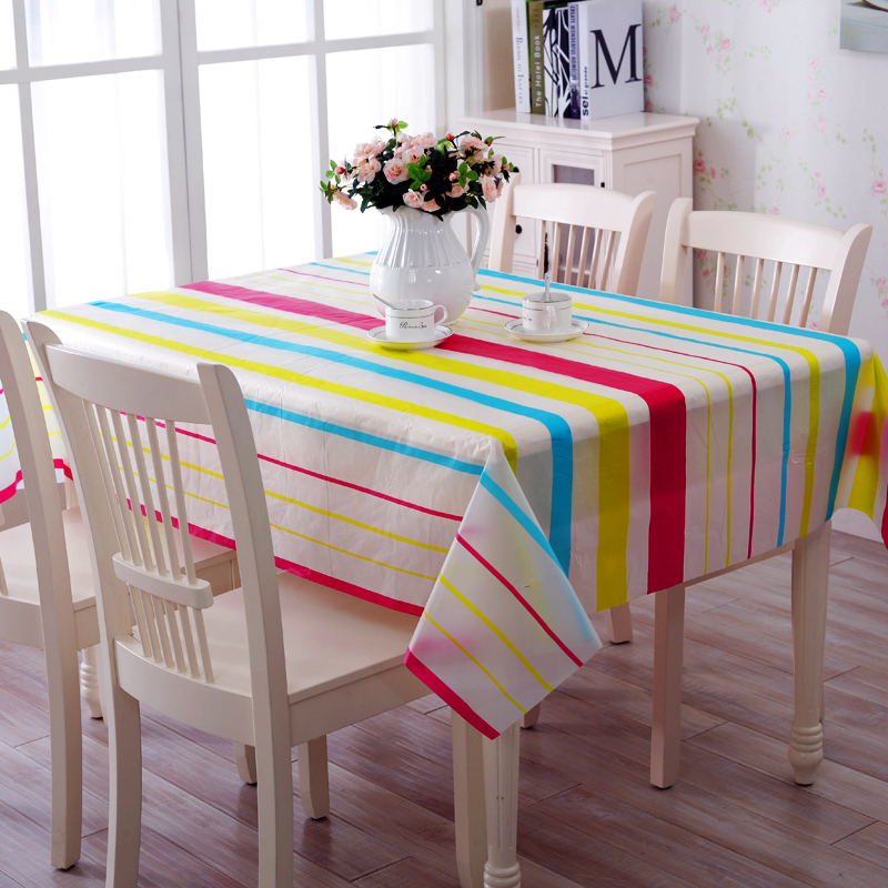 130*180CM PVC Waterproof oilproof tablecloth high temperature resistant coffee table mat tablecloth(China (Mainland))
