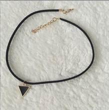 Gargantilla collares de mujer Cadena de ante negro terciopelo collares cortos joyería cristal zirconia joyería de moda 1 Uds(China)