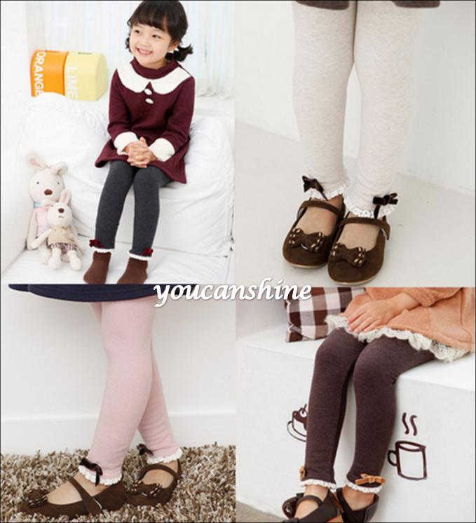 5pcs/Lot Size 100-140 New Fashion Cute Toddler Kids Baby Boy Girl Cartoon Ribbon Velvet Lace Haren Pants Leggings Trousers 2-7Y<br><br>Aliexpress