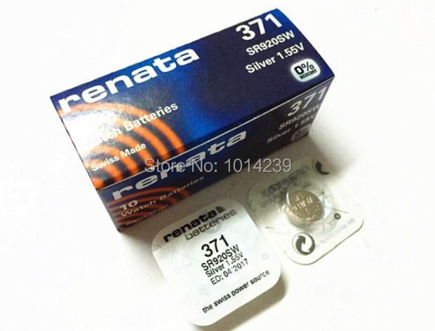 Аккумулятор таблеточного типа 5 /371 SR920SW LR69 LR920 AG6 100% батарейка rexant lr69 ag6 lr921 g6 171 gp71a 371 sr920w 30 1035 10 штук