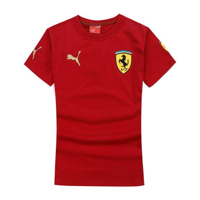 "new fashion Ferrar men brand t shirts ladies short - sleeved cotton t-shirts sports jerseys ""tennis"" undershirts casual shirts(China (Mainland))"
