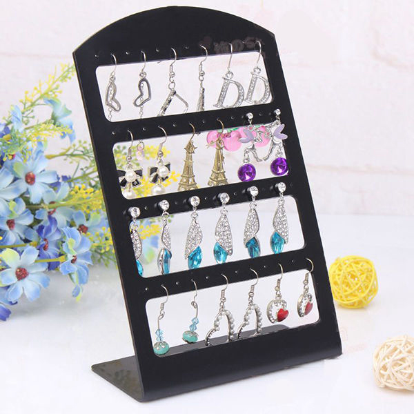 New 48 Holes Earrings Ear Studs Jewelry Show Plastic Display Rack Stand Organizer Holder Drop Shipping Christmas(China (Mainland))