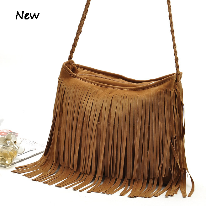 2016 womens messenger bags vintage leather handbags designer tassel crossbody shoulder satchel hobos bolsa franja feminina - MS HEDY Women's Bag store