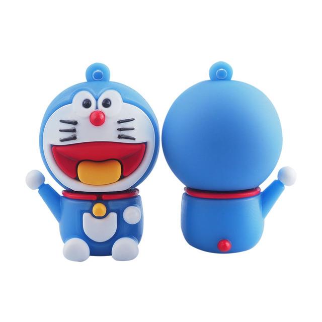 Cute cartoon doraemon usb flash drive 64g 32g 16g pen drive