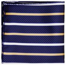 SNT0200 2014 New Fashion Striped Blue Neck Tie Set Neckties Cufflinks Handkerchiefs Business Wedding Tie