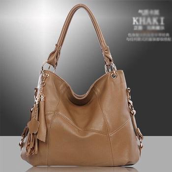 Cheap Products      PU Leather Bag Cowhide Women's Tassel Bag Shoulder Bag Vintage Handbag 3 Colors