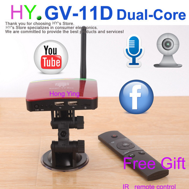 [Built-in Camera]With Mic Android TV camera HDMI  RAM 1GB ROM 4GB android 4.2 skype Google TV box,AIRPLAY,DLNA, + Remote Control