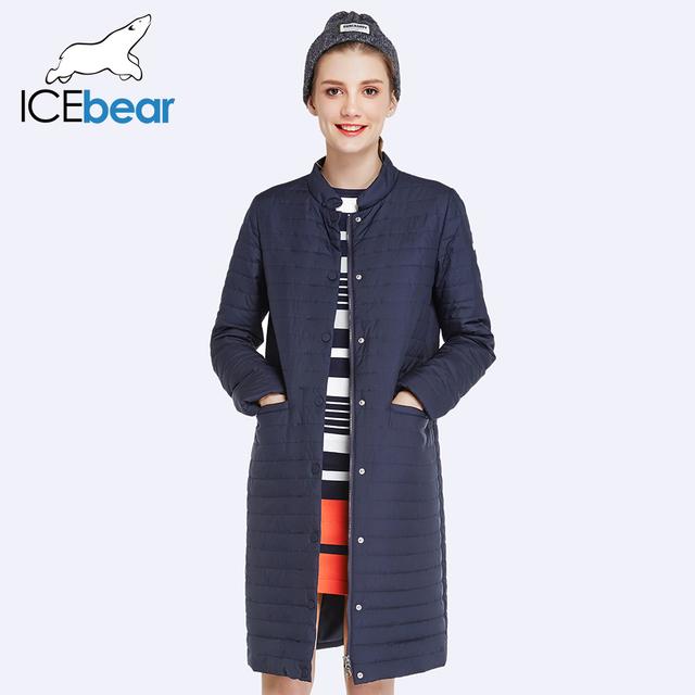 ICEbear 2017 Новая Осень и Весна Длинный Жакет Женщины Пальто Проложенный Хлопка Куртки И Пиджаки Теплый Parka женская Clothing 17G203D