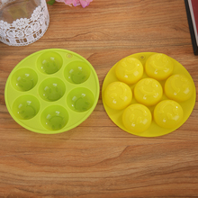 1pc 7 holes Smiling Face Bakeware Silicone Cake Mold Kitchen Creative Accessories DIY Cupcake Fondant Biscuit Baking Tools