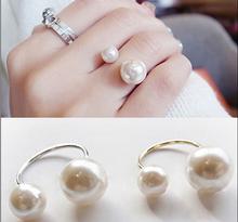 Atypický dámský perlový prstýnek z Aliexpress