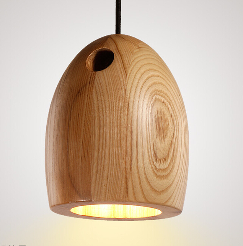 modern design oak pendant lights natural minimalist wood