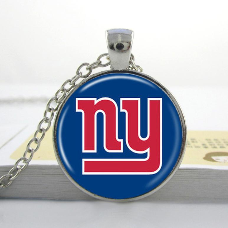 3pcs wholesale price new york giants glass pendant nfl for New top jewelry nyc prices