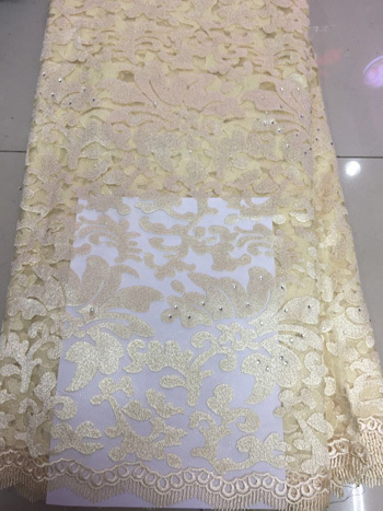 Nice Looking Fashion African French Net Lace+Cord With Stones Popular Swiss Voile Lace Fabric For Party Dress ZY3334-4(China (Mainland))