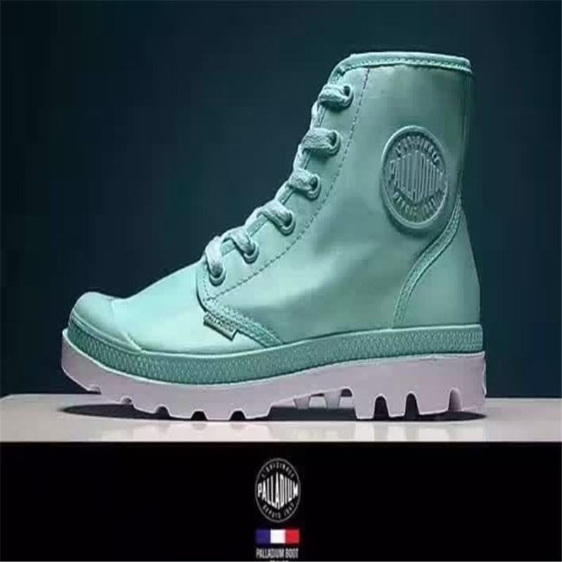 ! Palladium Classic Style Boots France Brand Women Waterproof High-top Dark Military Martin yellow boots - King's store