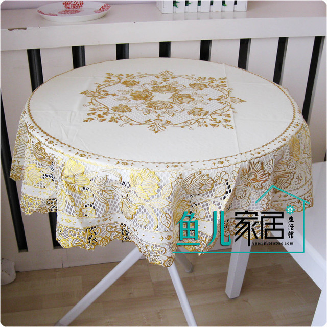 Quality luxury table cloth tablecloth dining table cloth table cloth pvc bronzier circle diameter