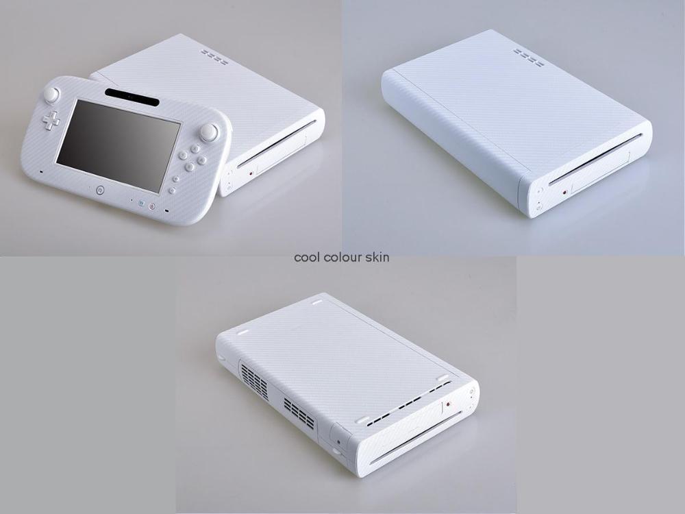 White Carbon Fiber Vinyl Skin Sticker Protector Nintendo Wii U controller skins Stickers - Cool Colour store