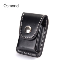 1pcs Men Cigarette Lighter Holder Bag Small Box Case Leather Cover Windproof Small Purse Male Clutch Portable Bag Accessories(China (Mainland))