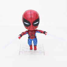 10 centímetros Edição Q Homem De Ferro Nendoroid figura The Avengers Super hero Deadpool Spiderman hero Flash Justice League Batman Figura brinquedo(China)