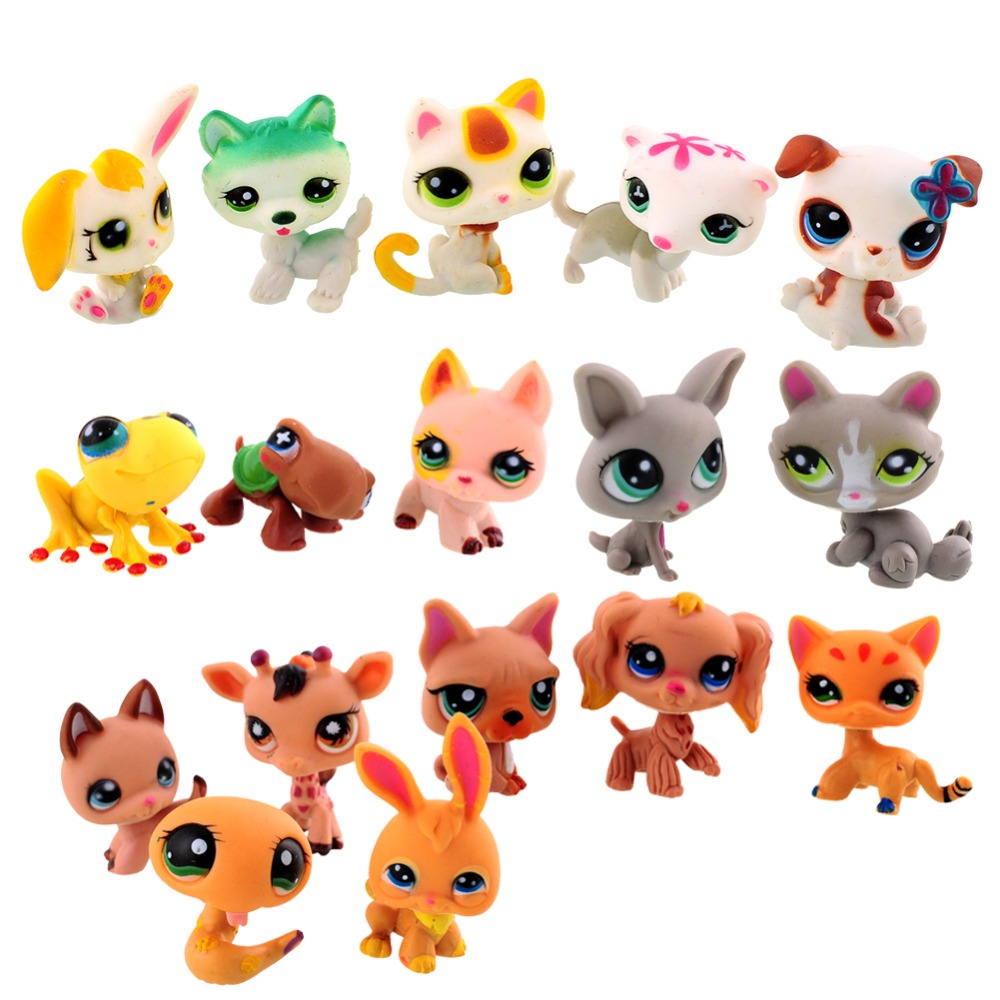 20 PCS lot MINI Littlest Pet Shop Dog Loose Random Child Girl Toys LPS Gift Brinquedos