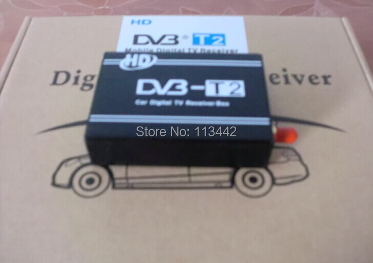 2pcs DVB T2 Mobile Digital TV Box External USB DVB-T2 Car H.264 MPEG4 TV Receiver Russian Europe Southeast Asia Free shipping(China (Mainland))