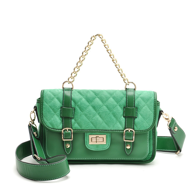 High quality 2015 new summer style famous brand green handbags women messenger bags genuine leather bag crossbody bag for girl(China (Mainland))