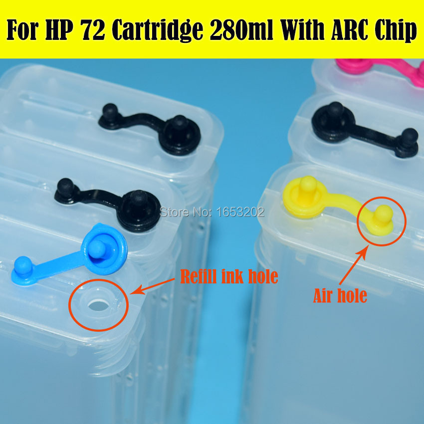 For HP 72 Refill Ink Cartridge 4
