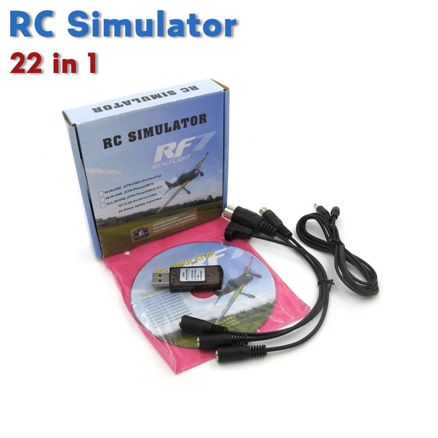 Professional RC simulator USB & cable upgraded Realflight G7 G6 G5.5 G5 Phoenix 5.0 22 in 1 radio control training flight(China (Mainland))
