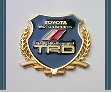 2pcs/set 3D Modified Car badge Emblem Metal for TRD