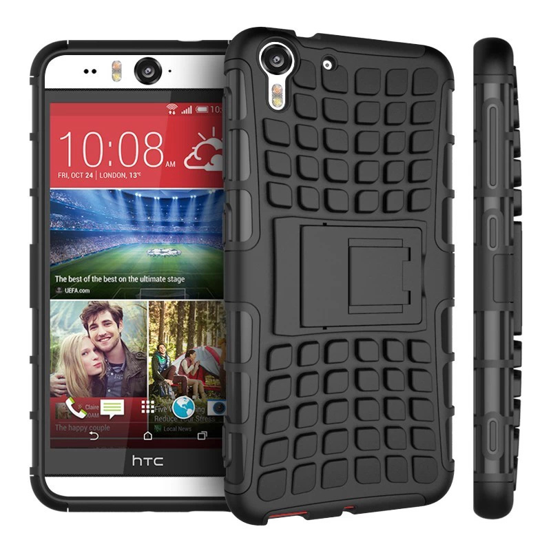 Fashion Touch Armor Cover Heavy Duty Defender Case For HTC Desire Eye 818 Stand Cases PY(China (Mainland))
