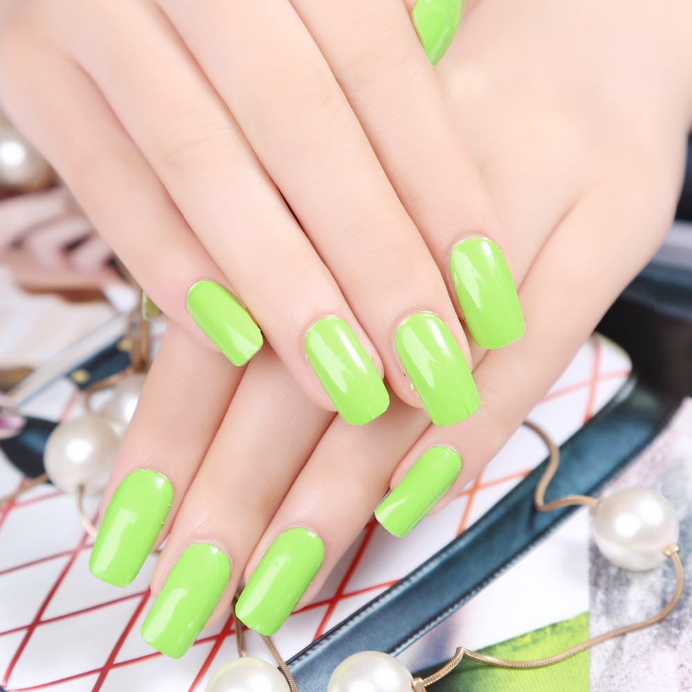 New fashion Stylish light green pure color design Beauty Nail Art decals nail accessories(China (Mainland))