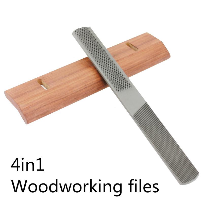 4 in 1 Woodworking Tools 8 Cusp Files/Bastard File Wood Carpenters File Steel Flat File<br><br>Aliexpress