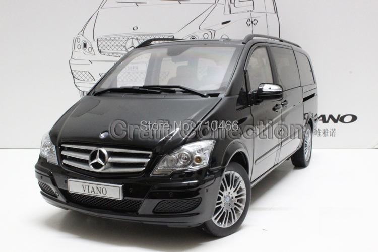 Black High Value 1/18 VIANO 639 2012 MPV Van Diecast Model Car Luxury Gifts Rare Miniature Automobile - Craft Collection store