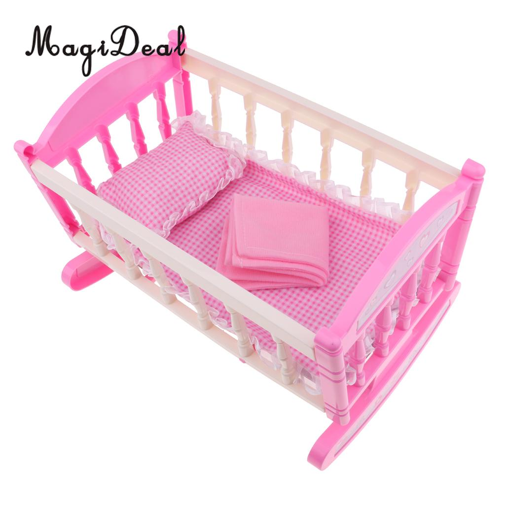 MagiDeal Doll Clothes Rack with Hangers For Mellchan Baby Dolls Furniture