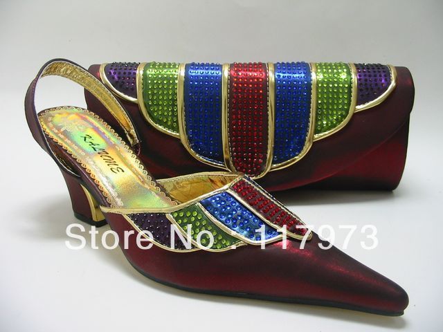 Free shipping lady shoes and maching bags manufacturer